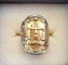 """AWESOME STERLING SILVER ZODIAC RING.ASTROLOGY-HOROSCOPE SIGN """"LIBRA"""""""