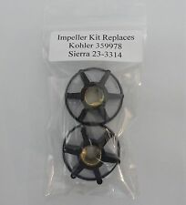 2 each IMPELLER KIT REPLACES KOHLER MARINE GENERATOR 359978 SIERRA 23-3314