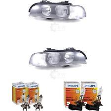 Halogen Scheinwerfer Set für BMW 5er E39 Bj 11/95-08/00 H7/HB3 mit Motor 1368564