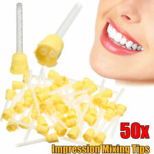 50Pcs Disposable Dental Impression Mixing Tips Silicone Rubber Film 1:1 3.5mm