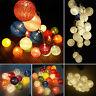 20 LED COTTON BALL STRING LIGHTS PARTY FAIRY ROOM CHRISTMAS WEDDING LIGHT DECOR