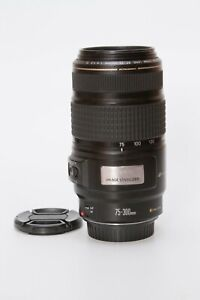 Canon EF 75-300mm f/4.0-5.6 IS USM Lens *Scratch in Front Glass*