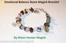 Emotional Balance Anti Depression Stone Spell Bracelet Reiki Crystal Healing