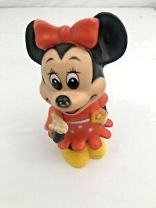 "Vintage Minnie Mouse Coin Change Piggy Bank Walt Disney 6.25"" Tall"