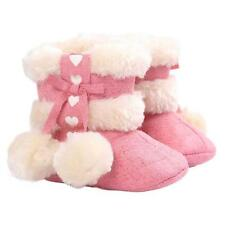 Soft Toddler Girl Sole Booties Baby Snow Boots Infant Prewalker Crib Shoes 0-18M