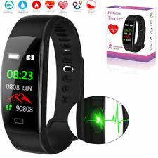 IP68 Wasserdicht Smartwatch Pulsuhr Schrittzähler Blutdruck Armbanduhr Swimmen