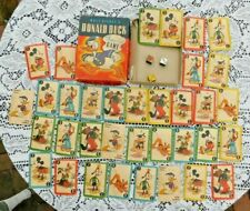 WALT DISNEY PRODUCTIONS  DONALD DUCK  PLAYING CARD GAME  1941  BOXED COMPLETE