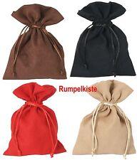 4 Stück Samtsäckchen groß in 4 versch. Farben, mit Kordel 6049g