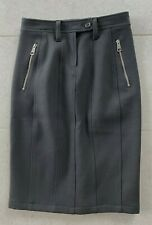 NWT 💯Authentic Burberry Brit Skirt Black Wool Blend Midi Pencil Women's Size 4