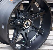 "20"" Matte Black Chrome Lonestar Warrior Wheels Dodge Ram 20x10 5x5.5 5x139.7 -25"