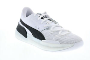 Puma Clyde Hardwood Team 19445401 Mens White Athletic Basketball Shoes