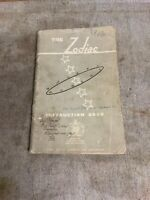 THE NEW ZODIAC Instruction Book FORD MOTOR COMPANY August 1959