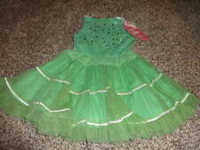 NWT NEW BOUTIQUE MIM PI 104 4Y 4 4T GREEN SEQUEN TULLE DRESS