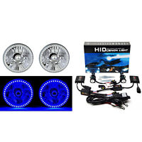 5-3/4 Blue SMD LED Halo 6000K HID Light Bulb Headlight Angel Eye Crystal Clear