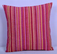 """16"""" Indian Hand Quilted Pillow Case Throw Cushion Cover Handmade Cotton Kantha"""