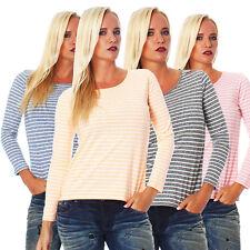 Damen Langarm Shirt Tunika Top Damen Oberteil Freizeit Basic M,L,XL,XXL 16713