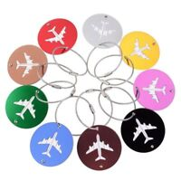 8pcs Aluminium Luggage Tags Travel Suitcase Label Holder Name ID Baggage Tag