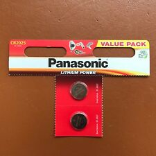 2 x Panasonic CR2025 Batteria A Bottone Al Litio 3 V 2025