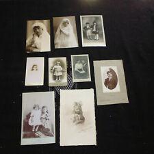 ancien lot photo portrait enfant XIXe 1900