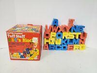 Vintage 1982 Mattel Preschool Tuff Stuff A B C's Blocks No.4383
