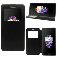 Etui Housse View Case Flip Folio Leather Cover NOIR pour OnePlus 5 A5000 5.5""