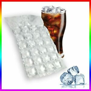 36 x Ice Cube Bags (1008 Cubes) Clear Disposable Freezer Plastic Bags