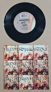 "NOISEWORKS - FREEDOM - RARE 7"" 45 PROMO VINYL RECORD w PICT SLV - 1990"