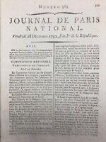 Procès du Roi Louis 16 1792 Louis Capet Interrogatoire du Roi Desèze Revolution