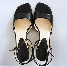 NEW Ann Taylor LOFT Black Ankle Strap Sandals, Leather, Size 6.5
