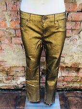 Metallic Gold Foil low waist skinny jeans by i Buffalo size 12
