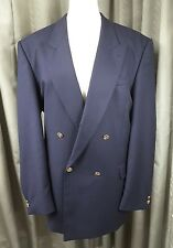 Skopes Navy Blue Double Breasted Gold Button Blazer 44R EXCELLENT CONDITION
