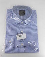 The Savile Row Slim Fit Bengal Stripe Casual Shirt 16.5 Collar TD171 QQ 15