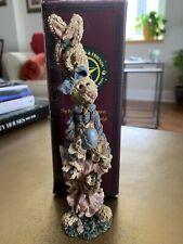 Euc Boyd's Resin Figurine Myrtle.Believe Rabbit Easter