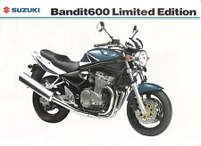 Suzuki GSF600ZK4 600 Bandit 2004 Limited Edition  - UK sales brochure