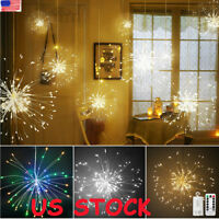 100/150 LED Firework Light Copper Wire Fairy String Lights Christmas Party Decor
