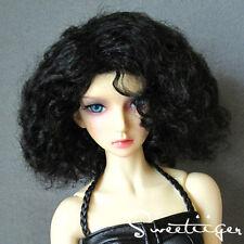 """8-9"""" 1/3 BJD Hair IP EID SD doll wig Super Dollfie natural curly black M-mohair"""