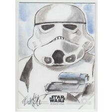 Topps Rogue One Series 1 Sketch Card Elfie Lebouleux Colour Stormtrooper