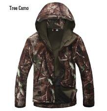 Tactical Sharkskin Softshell Hoodie Jacket Mens Winter Full Zip Fleece Work Coat