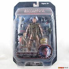 "Battlestar Galactica William ""Husker"" Adama Diamond Select figure worn packaging"