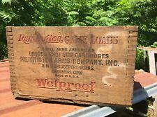 Remington Nitro Wetproof Game Loads Umc Bridgeport Ct Vintage Wooden Ammo Box