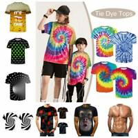 Funny Hypnosis 3D T-Shirt Men Women Colorful  Print Casual Short Sleeve Tee