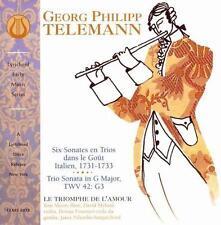 LE TRIOMPHE DE Lamour : Telemann: Six Sonates en Trios dans le G CD
