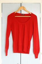 Marks and Spencer Pur Cachemire Encolure danseuse rouge Pull à peine porté Taille 8