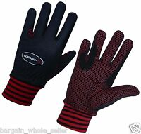 LADIES WINTER HORSE RIDING WIND WATER RESISTANCE THERMAL EQUESTRIAN RED GLOVES