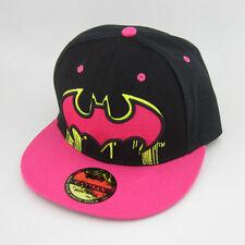 New Black Pink batman hiphop Cosplay Snapback Adjustable baseball cap flat hat