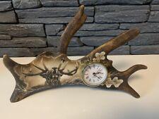 Damhirschschaufel, Handgravierte  Abwurfstange Uhr Damhirsch NEU 124258