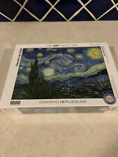 Eurographics The Starry Night by Vincent Van Gogh 1000 Piece Puzzle NEW Sealed