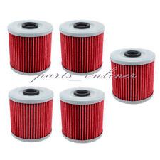 5 Pack Oil Filter For KAWASAKI BAYOU 300 KLF-300 KLF300 KLF 300 2X4 4X4 86-04