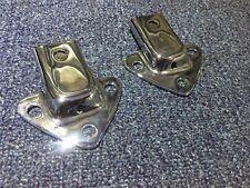 Mgb , Mgc Chrome Tonneau Sockets And  6 Piece Screw Set Row8-L