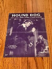 ELVIS PRESLEY HOUND DOG SHEET MUSIC ~ COPYRIGHT 1956 ELVIS PRESLEY MUSIC